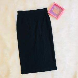 French connection solid black fitted pencil skirt